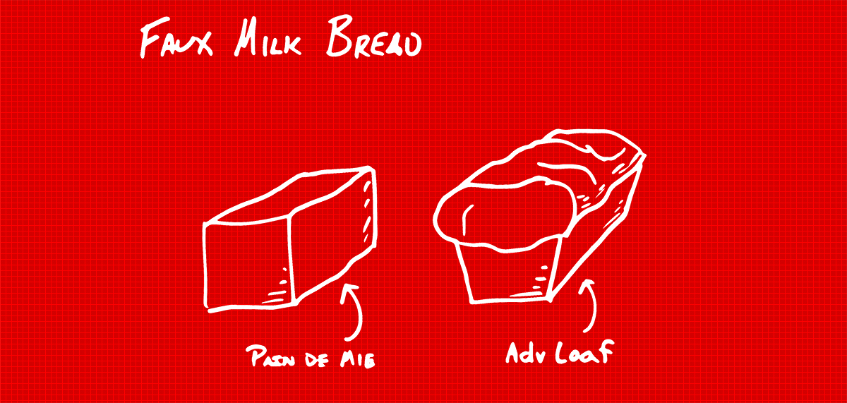 Faux milk bread image